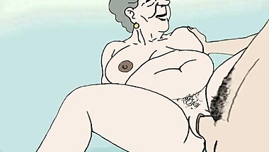 Horny Granny Cartoon that will have you cum in no time
