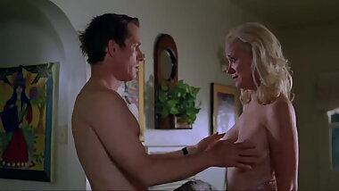 Celebrity GILF's emotional topless softcore sex scene