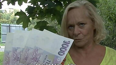 granny czech streets casting fuck for money