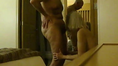 Hot hotel mirror sex