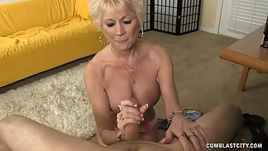 Step-mom Always Wanted To Offer Him A Handjob