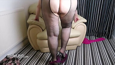My fishnet suspender tights